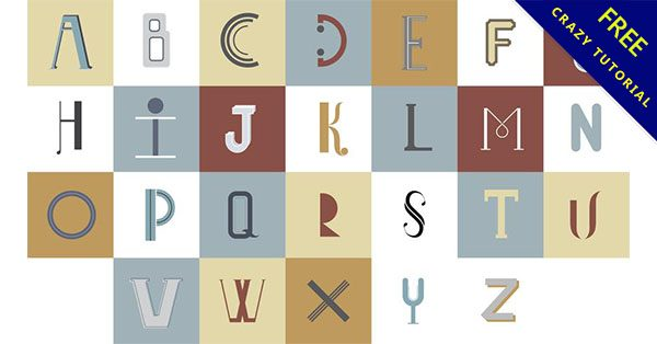 【英文字母設計】設計人必使用的15個完美的英文字母設計範本下載