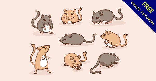 【老鼠q版】佛心推薦:16個可愛的q版老鼠下載