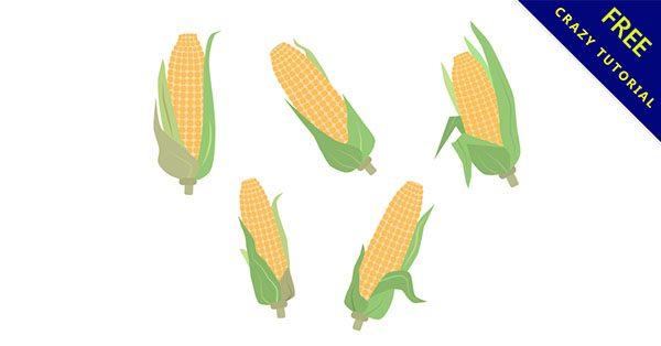 【玉米卡通】17款可愛的卡通玉米下載