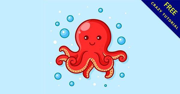 【章魚卡通】嚴選推薦:19個高質量的卡通章魚下載