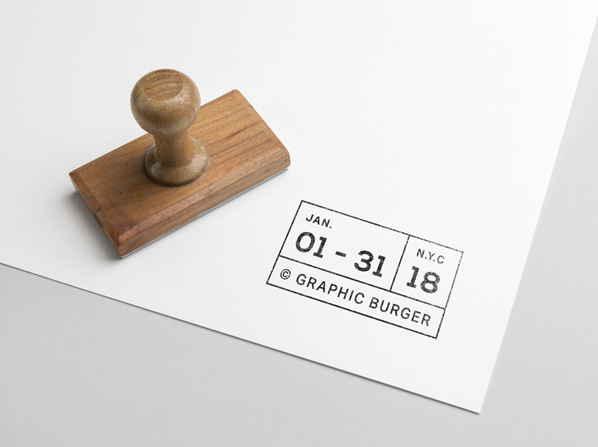 免費橡皮印章模板 下載