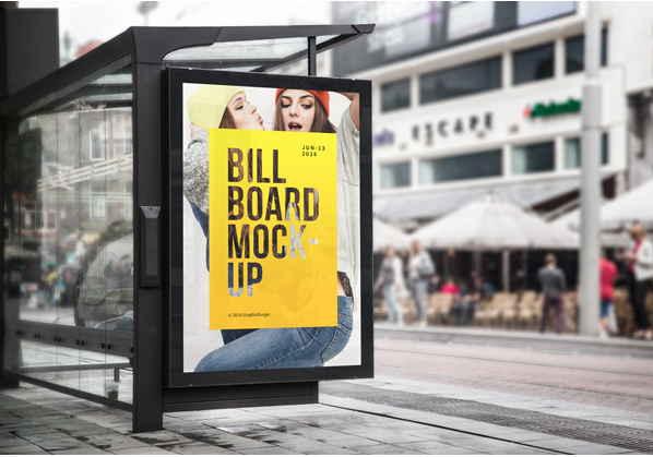 免費公車站廣告模板 下載