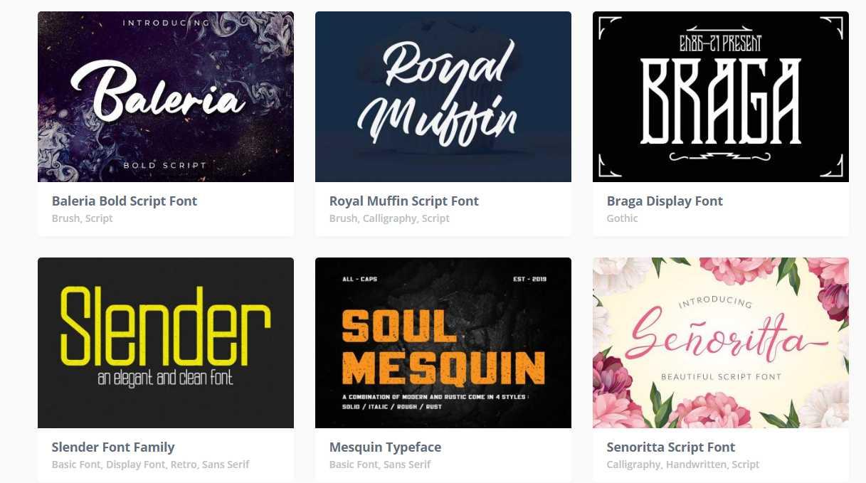提供了非常多有設計美感的英文字體,在這裡你幾乎可以找到不同風格的字體下載