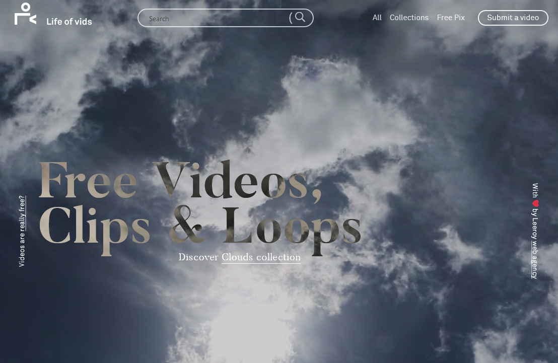 這個網站提供的影片素材比較寫實,有詳細的影片分類而且影片都是高畫質的