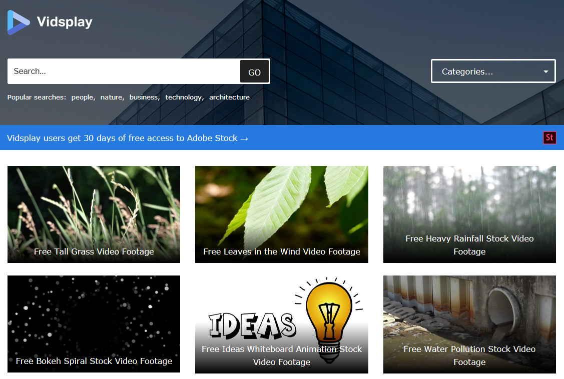 網站說明影片都可以商業用途和自己使用,通通都是免費下載
