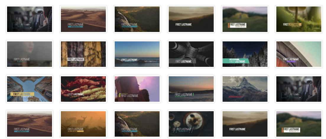 提供很多AE影片開頭模板和一些標題字的模板素材