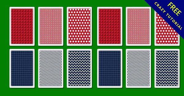 【撲克牌圖案】21款完美的撲克牌素材圖案下載