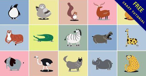 【動物插畫】22套超可愛的動物插圖下載