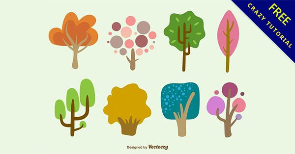 【卡通樹】精華推薦:23套可愛的卡通樹下載
