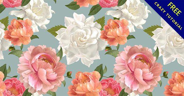 【牡丹花素材】26張手繪的牡丹花圖案素材下載