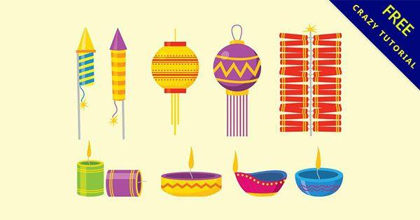 【燈籠圖案】9套可愛的燈籠素材圖案下載
