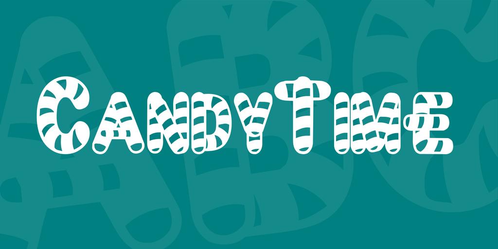 有趣的聖誕節糖果字體,可以免費下載