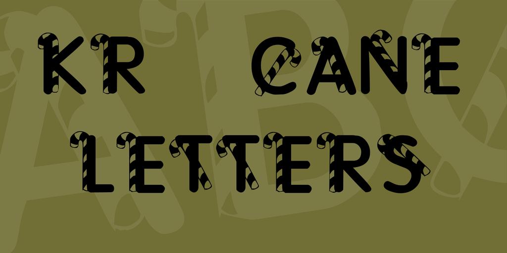 可愛的聖誕節拐杖糖字體,可以免費下載使用