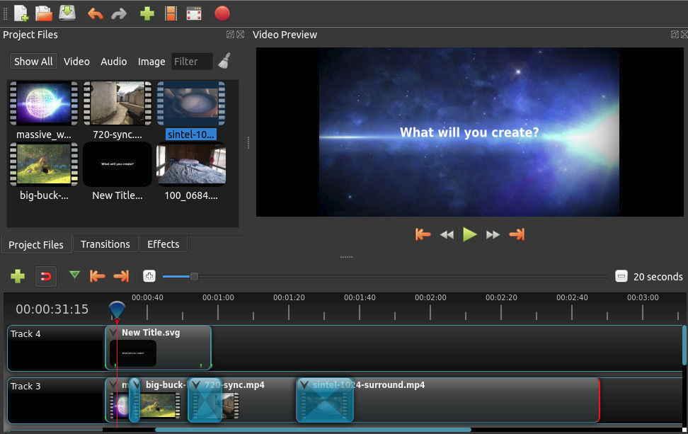 OpenShot影片編輯器可以在Linux、OSX和Windows上下載。我們提供直接下載連結和torrent