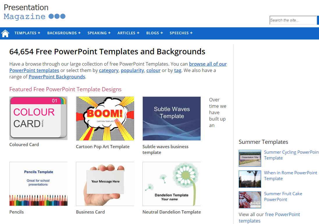 擁有64,654免費PowerPoint模板和背景
