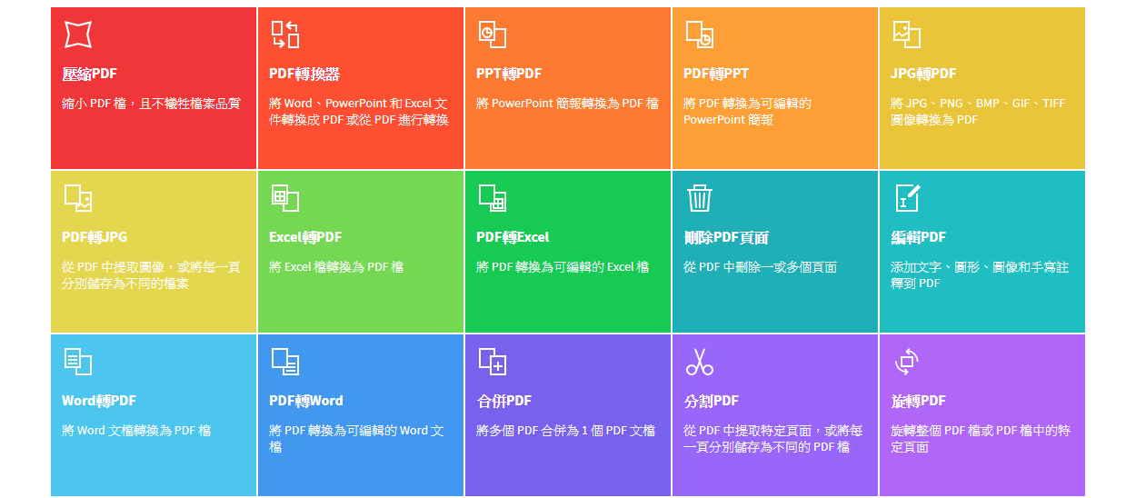 功能一應俱全、簡單好用的線上PDF工具