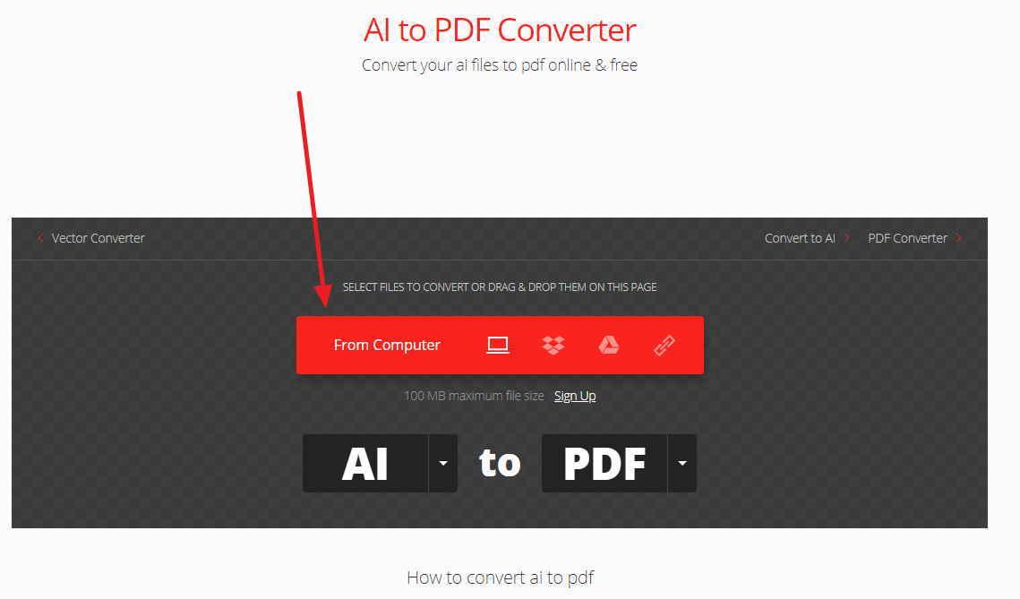 先上傳你要轉換成PDF的AI檔