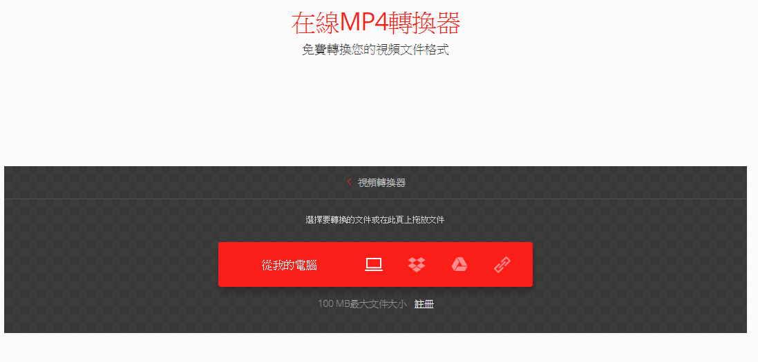 免費轉換所有的MP4影片格式