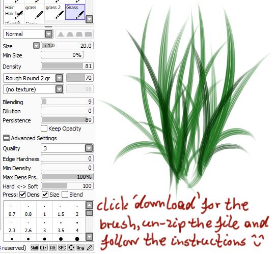 適合用來畫花草用的畫筆,可以自己調整粗細來完成不同的風格作品