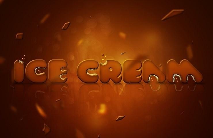 利用PHOTOSHOP的效果做出冰淇淋風格的文字效果