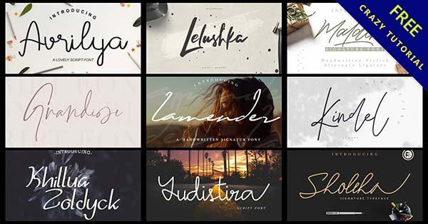 27款免費作家手寫字體,適合用在照片和封面標題