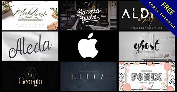 24款mac蘋果字體下載,適用於apple電腦字型