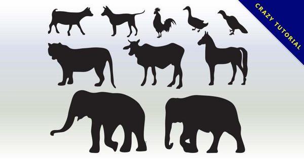 【動物剪影】乾貨推薦:40款高品質的動物剪影下載