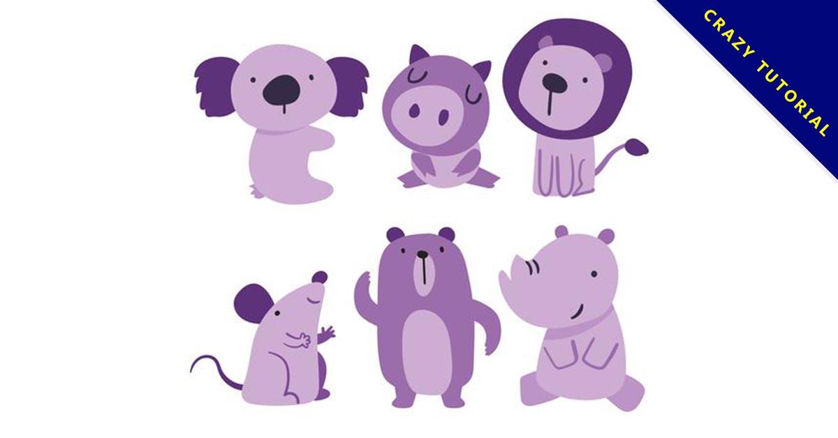 【動物插圖】素材推薦:39款可愛的動物插圖下載