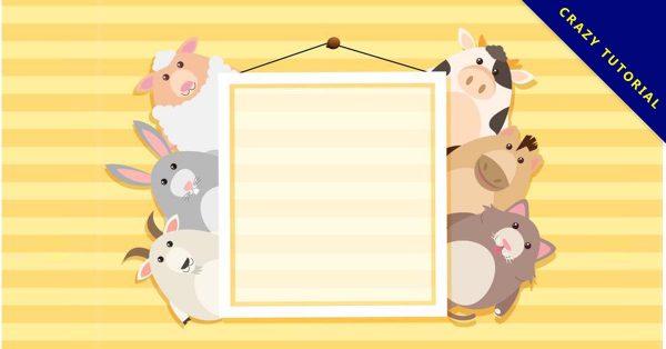 【動物邊框】41個可愛的動物邊框下載