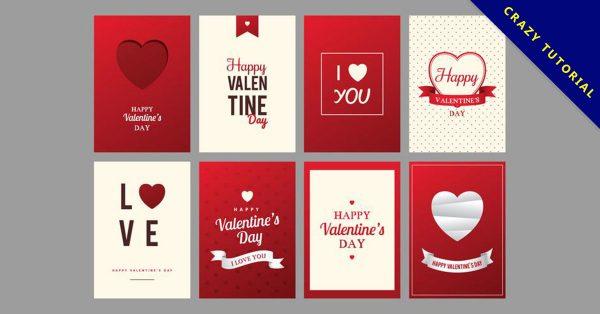 【情人節卡片】素材推薦:39套可愛的情人節卡片下載,製作卡片可用