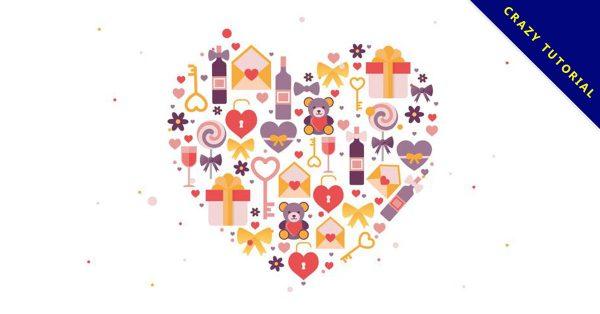 【情人節插圖】免費推薦:34個可愛的情人節小插圖下載