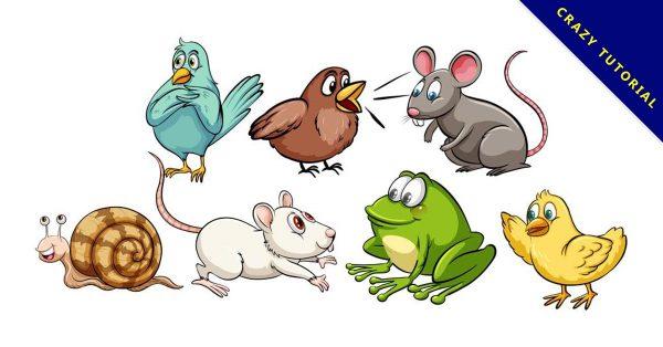 【手繪動物】乾貨推薦:24套可愛的手繪動物圖下載