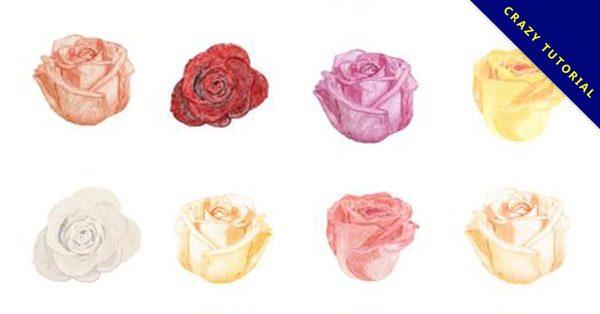 【手繪玫瑰花】14款細緻的手繪玫瑰花下載
