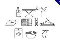 【洗衣標誌圖】免費推薦:25套可愛的洗衣標誌圖下載