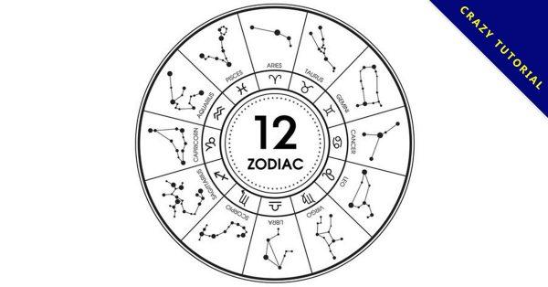 【12星座圖像】24款超酷的所有星座圖像素材下載