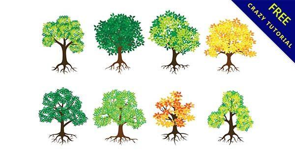 【卡通樹】素材推薦:29個可愛的卡通樹圖片下載