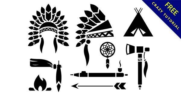 【印地安圖騰】圖案推薦:36個復古的印地安人圖騰下載