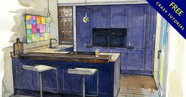 室內設計手繪欣賞,19款極美的室內手繪草圖範本推薦