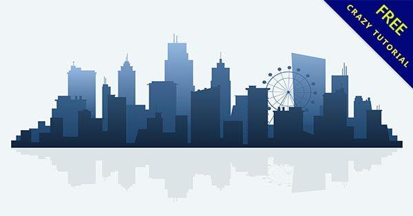 【建築剪影】剪影推薦:18套精細的建築物剪影圖下載