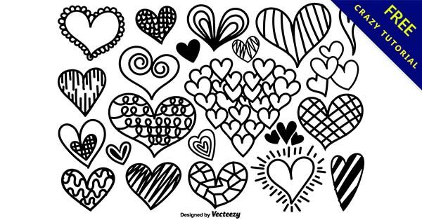 【愛心線條】線條推薦:26個可愛的愛心手繪線條下載