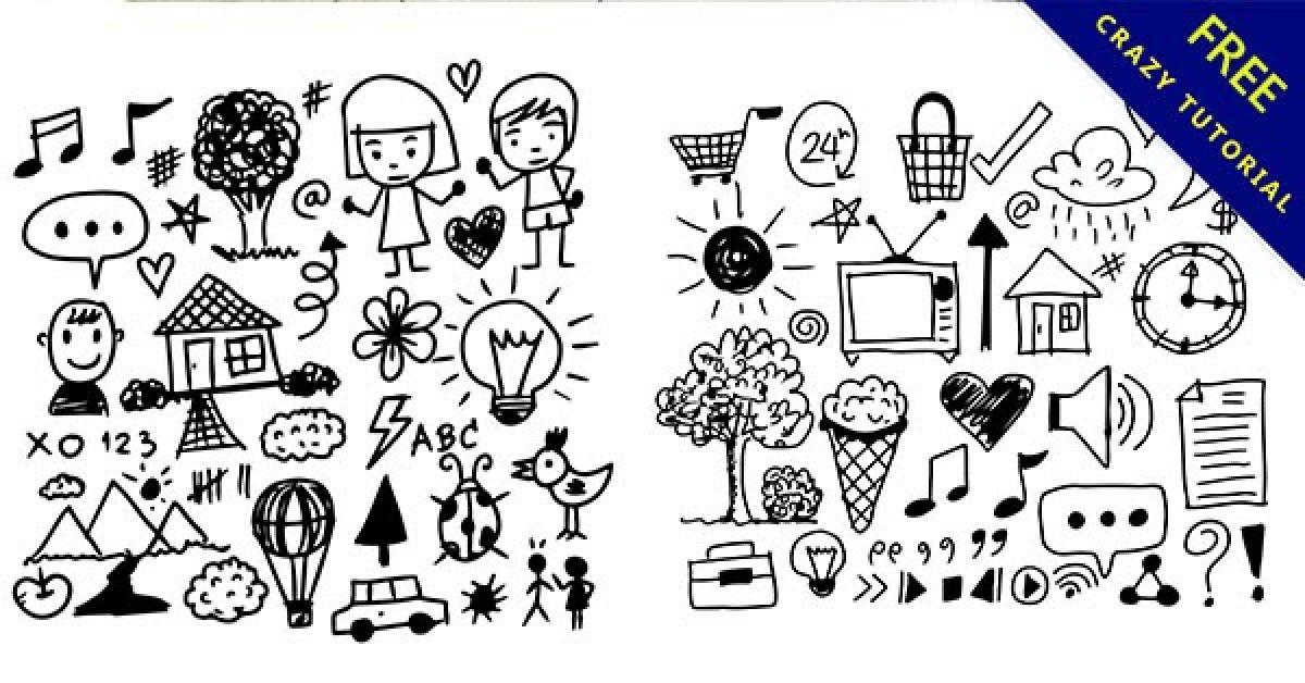 【手繪小圖】女生都愛的34個可愛的手繪小圖案下載