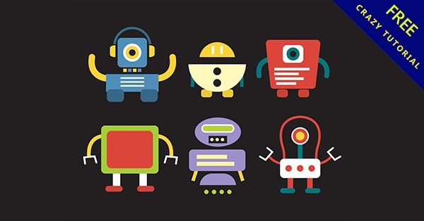 【機器人圖片】編輯推薦:33套可愛的機器人圖案下載