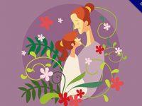 【母親節插畫】嚴選推薦:18個精緻的母親節可愛插畫下載