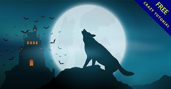 【狼剪影】精選12張超酷的狼剪影圖案下載