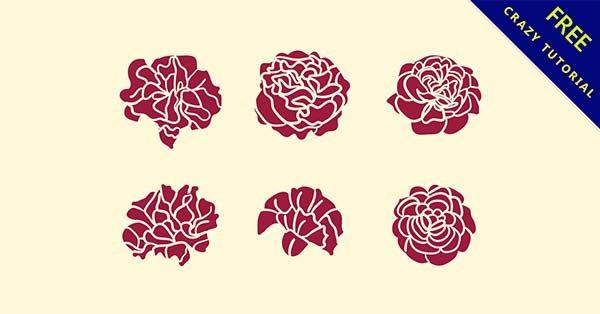 【玫瑰剪影】素材推薦:14套製作玫瑰剪影的素材下載