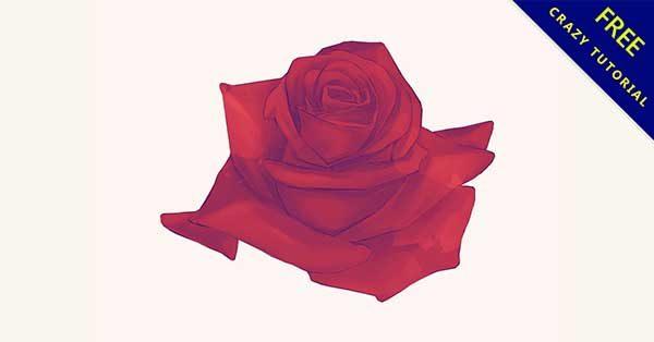 【玫瑰花手繪】手繪推薦:17個可愛的手繪玫瑰花下載