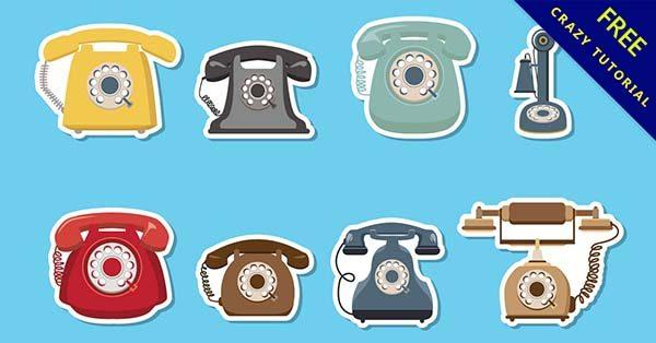 【電話圖片】素材推薦:32套復古的電話圖案下載