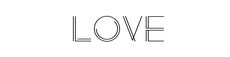 LOVE字體