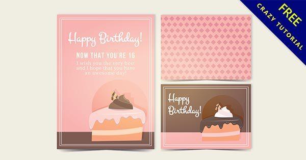 【蛋糕卡】卡片推薦:35款可愛的蛋糕卡片下載