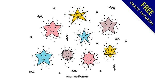【可愛星星】28個卡通的可愛星星圖下載